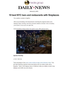 10 Best NYCBars and Restaurants with Fireplaces